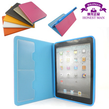 smart leather case cover for lpad air with card slots colorful TPU leather cover for ipad 4 wholesale in stock