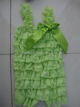 Kaiya Skirt stock clothes wholesale baby clothing lime green romper lace products for baby