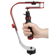 Video camera stabilizer is a superior handheld video stabilizer perfect for Cannon, Nikon or any DSLR camera up to 2.1 lb