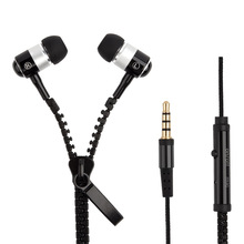 High quality brand name earphone zipper earphone headphone
