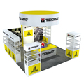 Detian Offer 6x6m tradeshow display exibition booth stands with shelf