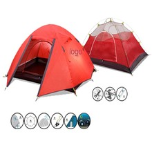 3 season climbing pink camping tent for mountain camping
