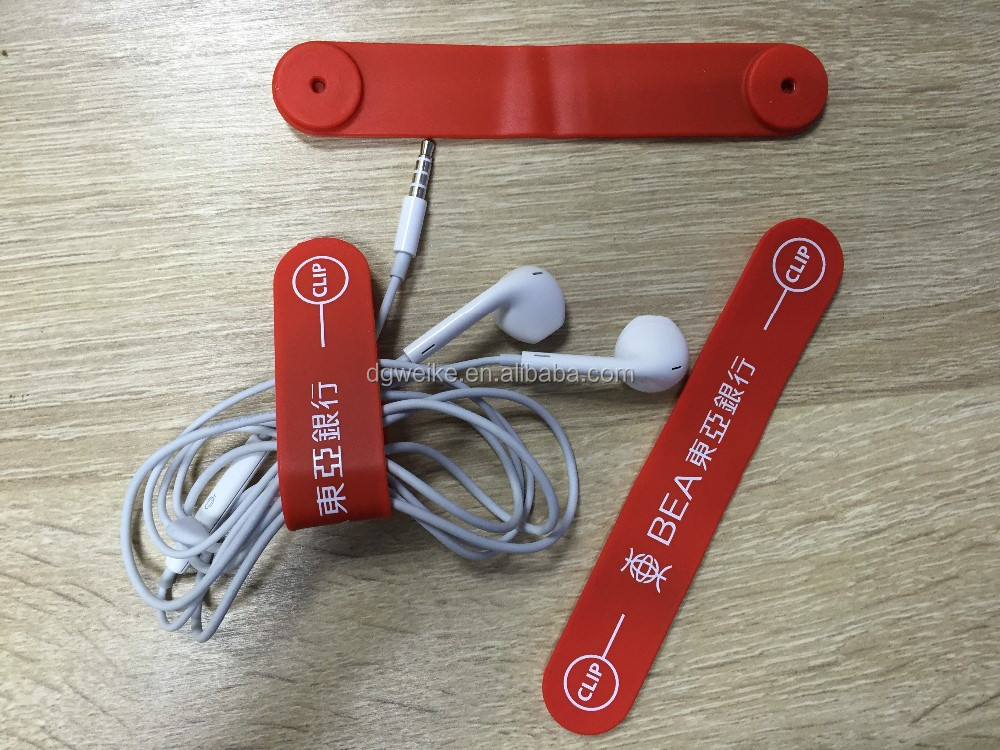 unique design silicone magnetic clip band,M-clips, silicone coiling device,plastic magnetic belt clip