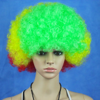 MY-QM-0002 Bolivia's halloween party Football fans Sports party wig, Halloween carnival wig