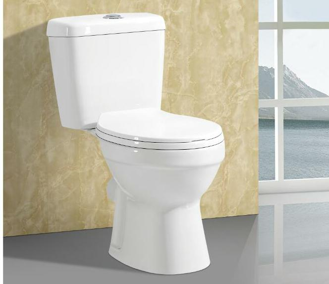 C8807 Hot sale WC single flush siphonic low price two piece colour toilet for bathroom for latin america