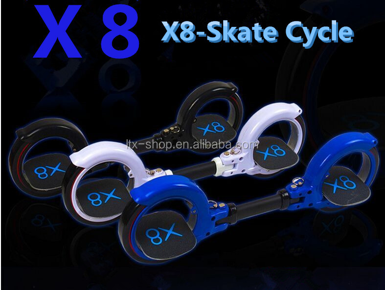 2016 Hot-selling X8 Skate Board Freeride Skatecycle, Two Wheel Skate Cycle Drift Board Skate Cycle Factory Cheap Price