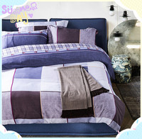 Cheap Queen Size 100% Polyester Microfiber Plain Colorful Stripe Flat Bed Sheets for hotels