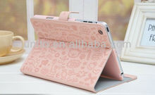 smart cover stand book leather case for ipad mini