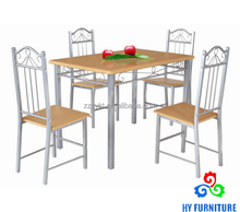 Wooden dinning room dinette table chairs set wholesale