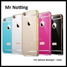 hot selling metal back cover cell phone case aluminium bumper for iphone 6 6s