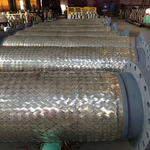 Flange connection stainless steel corrugated metal flexible hose