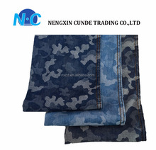 3.9oz Camouflagecotton polyester denim fabric for shirt/shoes/school bag wholesale price