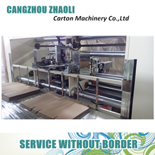 Manual operate Semi automatic corrugated cardboard stapler machine / nail cardboard machine
