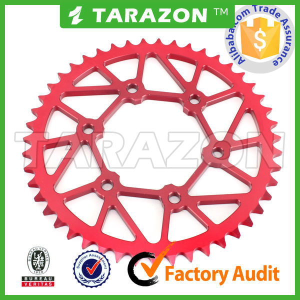 China new CNC motorcycle spare parts larger rear R15 chain sprocket