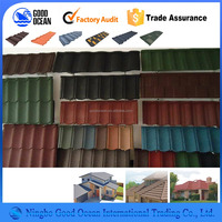 1340*420mm Shingel Colorful stone coated steel roofing tile