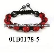 Fashion cancer beaded bracelets shamballa bracelet