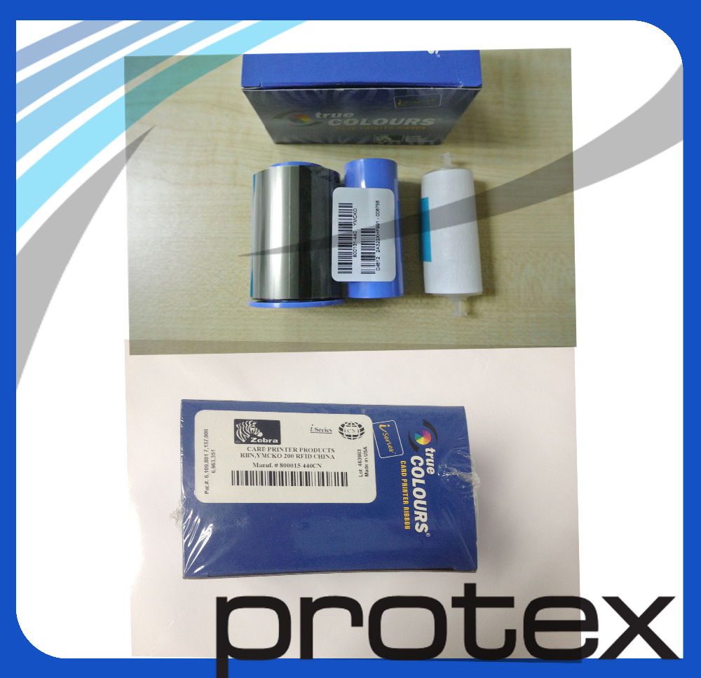 Good quality original 800015-440CN YMCKO 200 prints card printer ribbon for P330ICN ID card printer