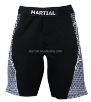 MARTIAL CrossFit shorts,Men Black MMA Fight Shorts 2015 new design sublimation print well fit cut mma shorts
