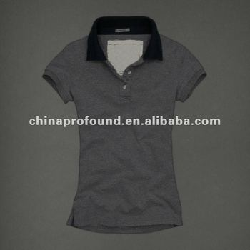 OEM slim fit plain blank polo shirts for women garment factory from China