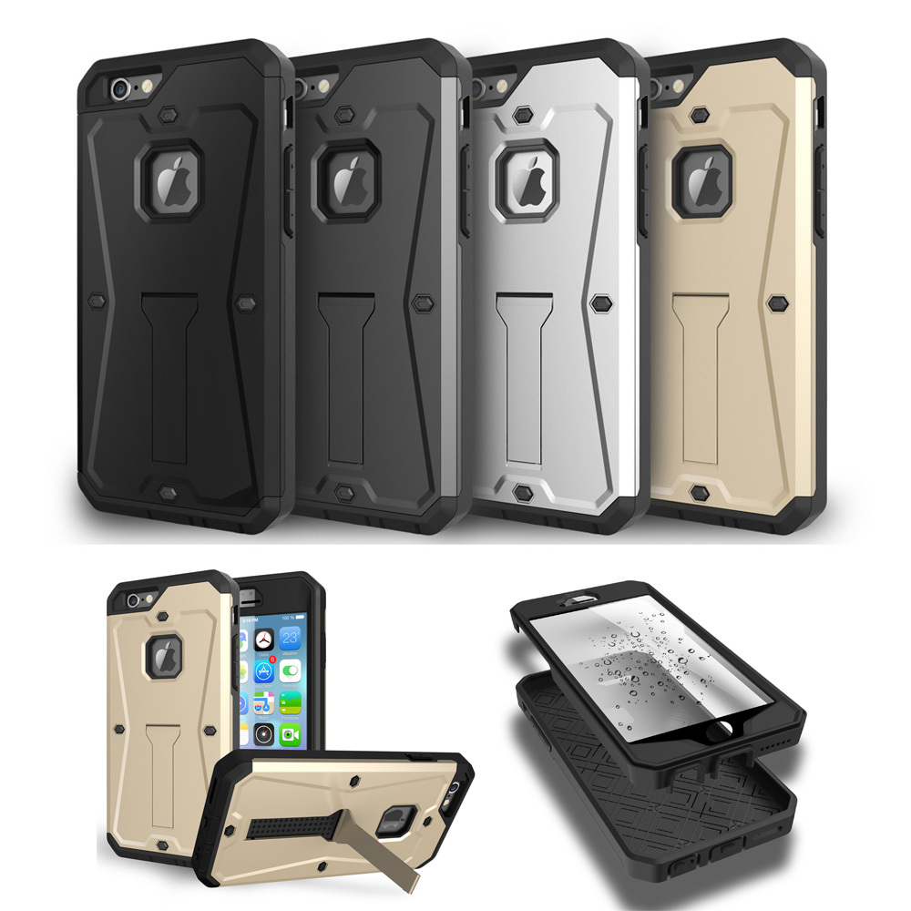 New arrival armor case for iphone 6, for iphone 6 protective shockproof waterproof kickstand case cover