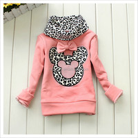 High Quality 80 Cotton 20 Polyester Hoodies Wholesale Children Mini Mouse rhinestone Hoodie For Kids