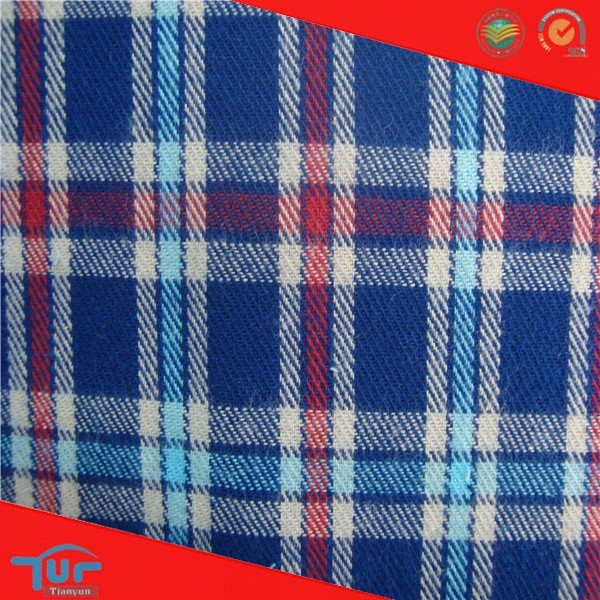 2015 Latest Dress Designs High Quality Blue And White Check Fabric For School Uniform