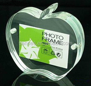 Apple shape transparent acrylic picture frame