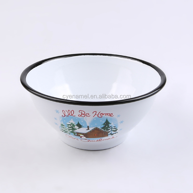 Popular Enamelware Large Salad serving Bowl Vintage Enamel Basin