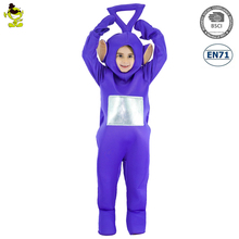 Fashion Purple Cartoon Mascot Costumes Carnival Party Cute Anime Character Tinky-Winky Cosplay Jumpsuit for Unisex Kids Show
