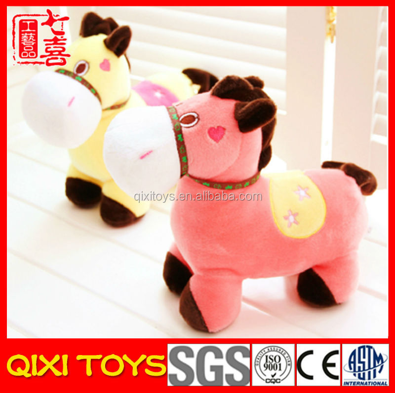 Cute and lovely baby soft plush toy horse