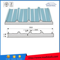 Light Weight Popular Cold Room Corrugated EPS Sandwich Wall Panels/Wall Panels/Decoration EPS Sandwich Panel