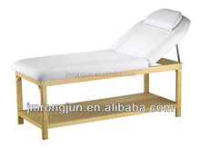 fancy inclinable comfortable solid wooden massage/facial bed for sale RJ-6621A
