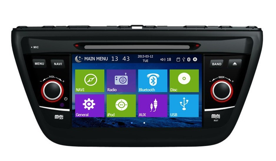 ugode built in DVD GPS radio bluetooth USB IPOD TV for 2014 Suzuki SX4 car audio