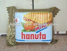 PVC inflatable biscuit display for promotion