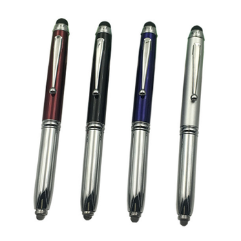 hot sale laser pointer led light and stylus touch metal pen