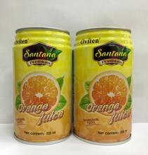 325ml Health sterilized instant tropical orange juice drink in tin can