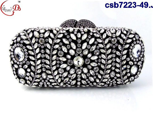 CSB7223-9 Beautiful design good quality lady small handbags with stones for lady party 2013