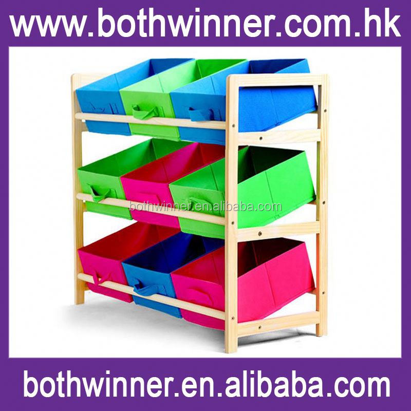Wooden toy organizer ,H0T380 animal toy foldable storage box for sale