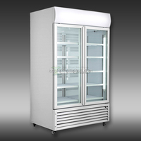 300 - 1400 LITERS DOUBLE GLASS DOORS UPRIGHT DISPLAY REFRIGERATOR