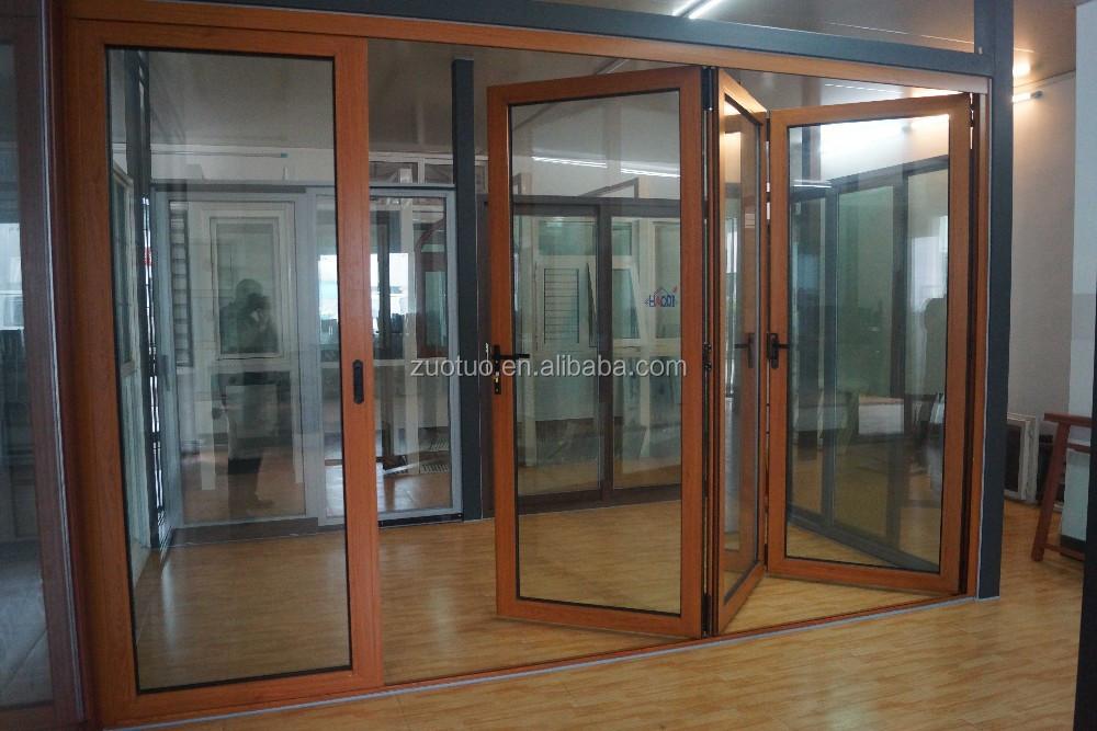 Econ mico m s bajo vidrio puerta plegable de aluminio - Precio puertas plegables ...