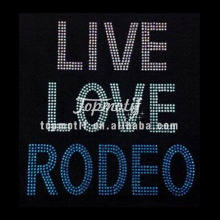 Amor vivo <span class=keywords><strong>Rodeo</strong></span> Custom Bling Transferencias Para Camisetas