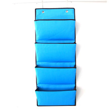 5 Slots Hanging Wall Organizer, File Hanging Storage Pocket Charts For Magazine,Paper Work