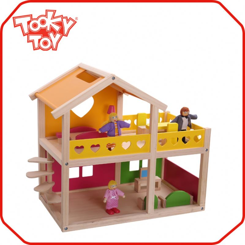 Baby Brain Development Play Toy mini wooden doll house