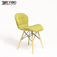 Hot sale fashion style commercial use high quality fabric living room chair with wood legs