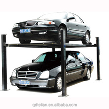 cheap price car hydraulic jack four post 2 level parking lot car lifts