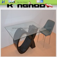 black lacquer table glass top dining room furniture sets
