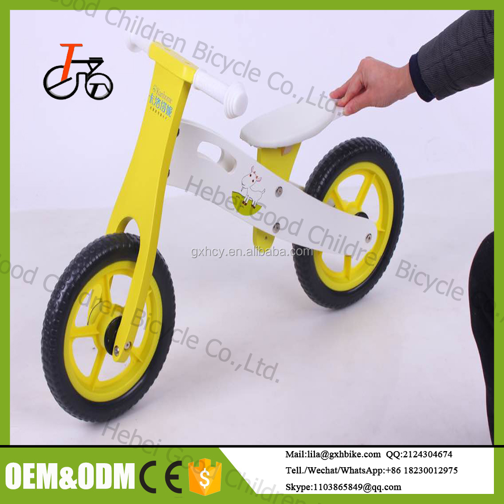 2017 wholesale 12 inch wooden balance bike with CE Approved Wooden balance child bike/balance bicycle for 2 year old