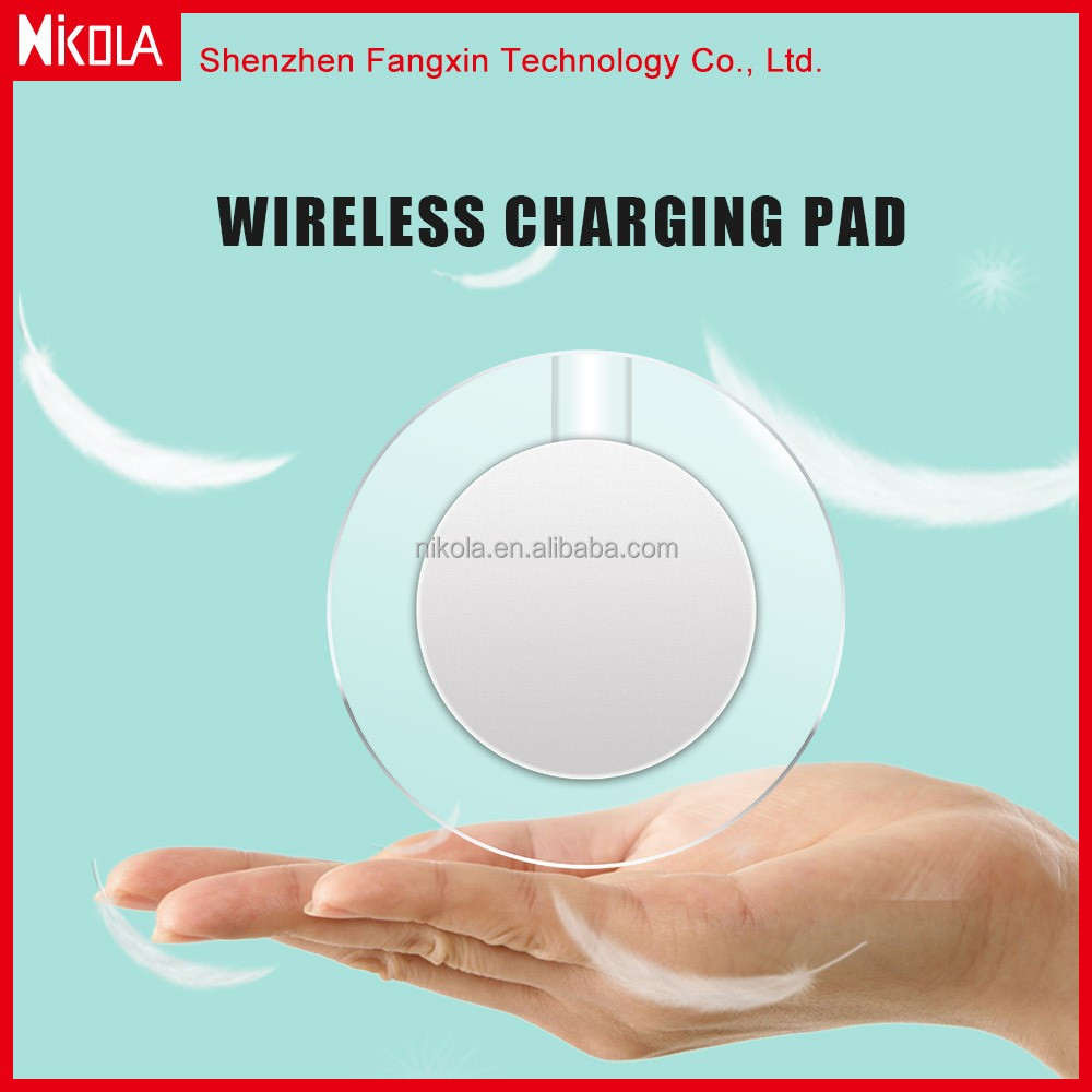 5 -9W Factory Type-C port QI Wireless Charger Charging Pad For Samsung Fast Charge