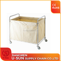 High quality hotel /Hospital housekeeping trolley Linen bags laundry trolley housekeeping linen carts