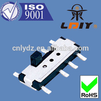 10*3.5*2.5 slide switch 3 position manufacturer with 23 years experience vertical slide switch 8 pin LY-SS10